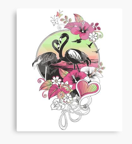 flamingoes Canvas Print