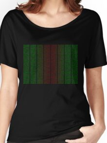 Binary Green and Red With Spaces Women's Relaxed Fit T-Shirt