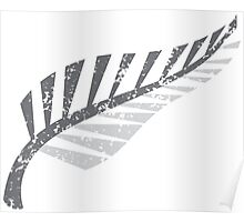 Silver fern distressed  Poster