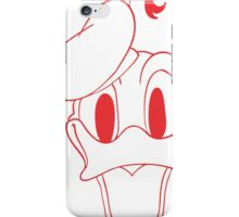 Donald Duck Red iPhone Case/Skin