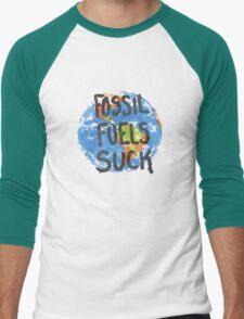 Fossil Fuels Suck Men's Baseball ¾ T-Shirt