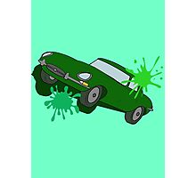 Classic Car Green Splatter Photographic Print