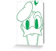 Donald Duck Green Greeting Card