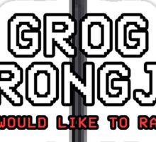 GROG STRONGJAW - Pixel Series (Critical Role) Sticker