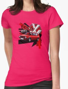 Mk1 Golf GTI T-shirt 'Explosion' Womens Fitted T-Shirt
