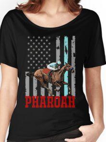 USA flag american pharoah racehorse Women's Relaxed Fit T-Shirt