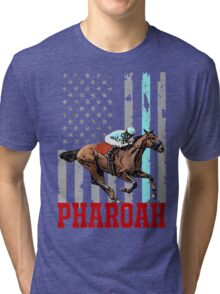 USA flag american pharoah racehorse Tri-blend T-Shirt