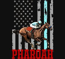 USA flag american pharoah racehorse Unisex T-Shirt