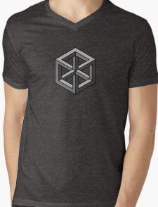 Mind Bending Isometric Cube Mens V-Neck T-Shirt