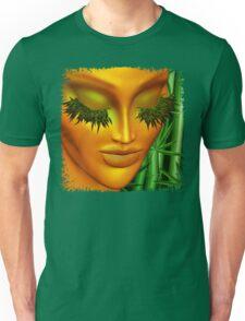 Zen Mother Nature Portrait and Bamboo Unisex T-Shirt