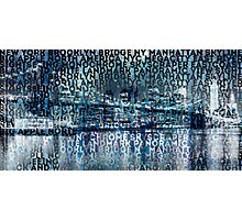 Urban-Art NYC Brooklyn Bridge I Photographic Print