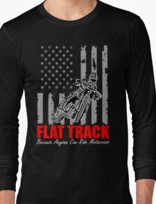 USA Flag flat track Long Sleeve T-Shirt