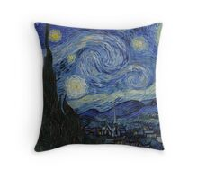 notte stellata van gogh Throw Pillow