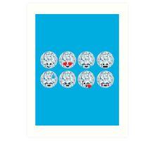 Emoji Building - Discoballs Art Print
