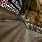 Worcester Cathedral - Looking upwards in the Transcept by John Dalkin
