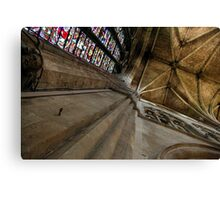Worcester Cathedral - Looking upwards in the Transcept Canvas Print