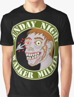 Zombie Patch Funny Sunday Night Walker Militia Graphic T-Shirt