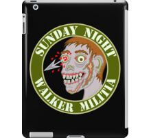 Zombie Patch Funny Sunday Night Walker Militia iPad Case/Skin
