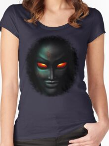 Zombie Ghost Halloween Face Women's Fitted Scoop T-Shirt