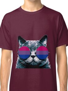 Bisexual Cat with Sunglasses Classic T-Shirt