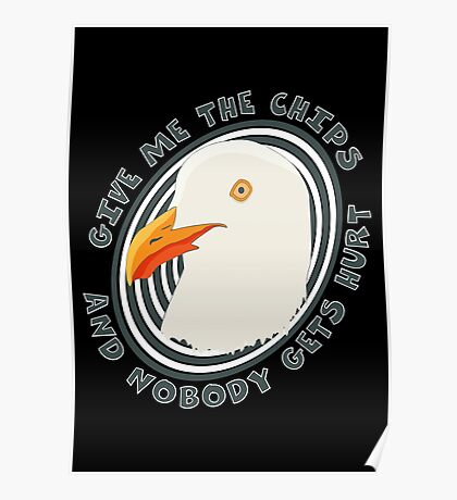 Eat like a seagull Poster