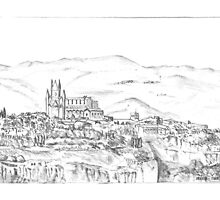 Italy. Orvieto sketch by David Rodriguez Studio