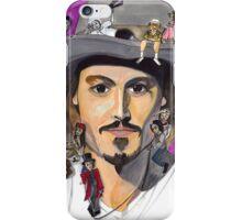 Johnny Depp W/ back iPhone Case/Skin