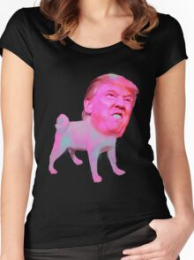 Puppy Trump Women's Fitted Scoop T-Shirt