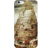 Tower of Babel, by Abel Grimmer iPhone Case/Skin
