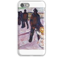 Worker and Child - Edvard Munch iPhone Case/Skin