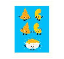 Character Fusion - Mac N Cheese Art Print
