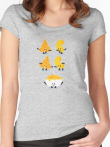 Character Fusion - Mac N Cheese Women's Fitted Scoop T-Shirt