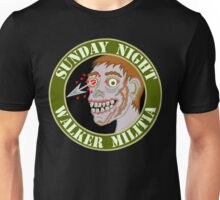 Zombie Patch Funny Sunday Night Walker Militia Unisex T-Shirt