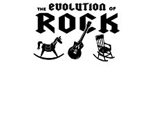 The Evolution Of Rock Photographic Print