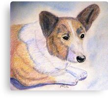 The Loyal Corgi  Canvas Print