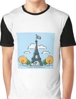 The Paris Eiffel Tower Vector Graphic T-Shirt