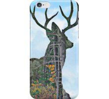 Deer and pine merge iPhone Case/Skin