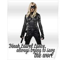 Dinah Laurel Lance Poster