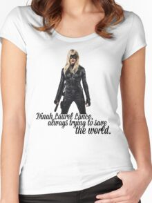Dinah Laurel Lance Women's Fitted Scoop T-Shirt