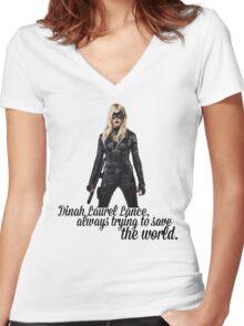 Dinah Laurel Lance Women's Fitted V-Neck T-Shirt