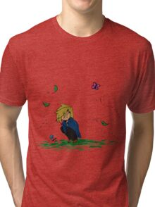 Cobalt Star - Stopping to Smell the Flowers Tri-blend T-Shirt