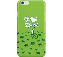 I Love Zoos (green 2016) iPhone Case/Skin