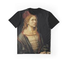 Portrait of the Artist Holding a Thistle (1493) Graphic T-Shirt