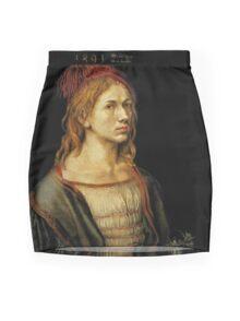 Portrait of the Artist Holding a Thistle (1493) Mini Skirt