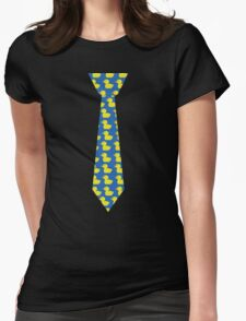 Ducky tie Womens Fitted T-Shirt