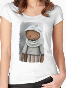 mommy bear /Agat/ Women's Fitted Scoop T-Shirt