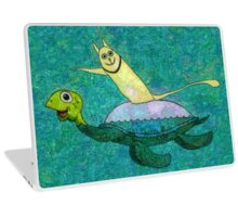 CAT AND MYRTLE C. TURTLE Laptop Skin