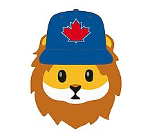 Full Print - Blue Jays No Fear Lion Emoji Photographic Print