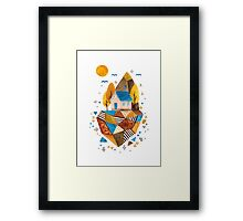 Homey Rock Framed Print
