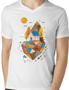 Homey Rock Mens V-Neck T-Shirt